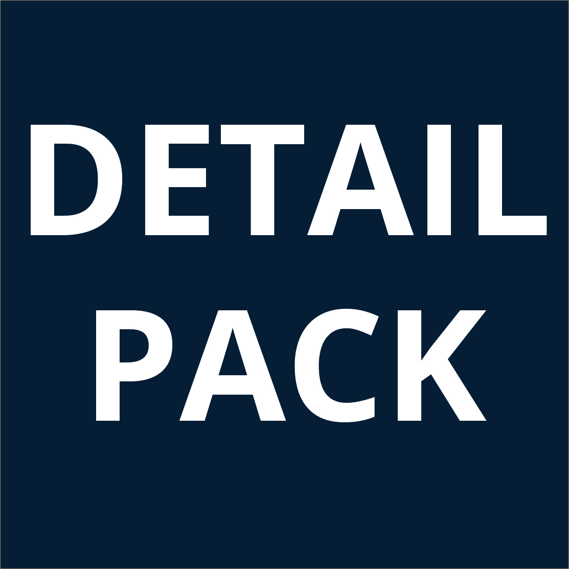 Includes detailing detail pack