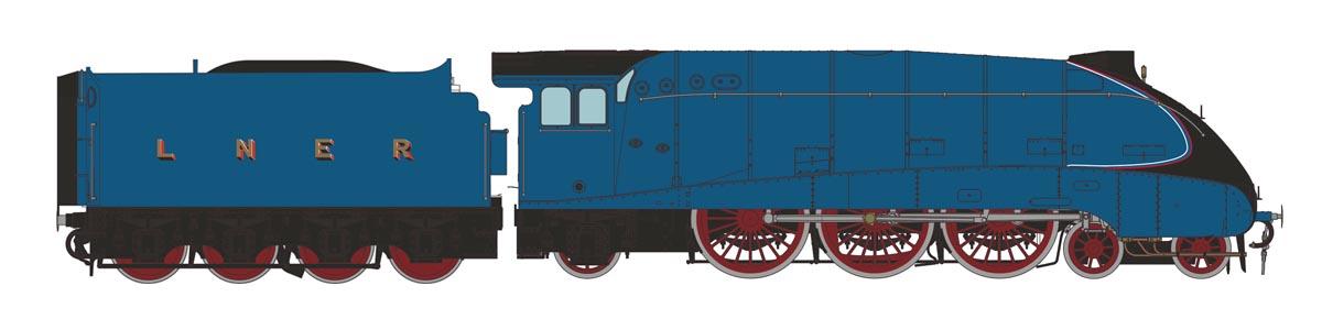 Unnumbered Class A4 in LNER Garter Blue
