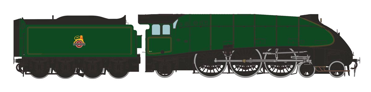 Unnumbered Class A4 in BR Green