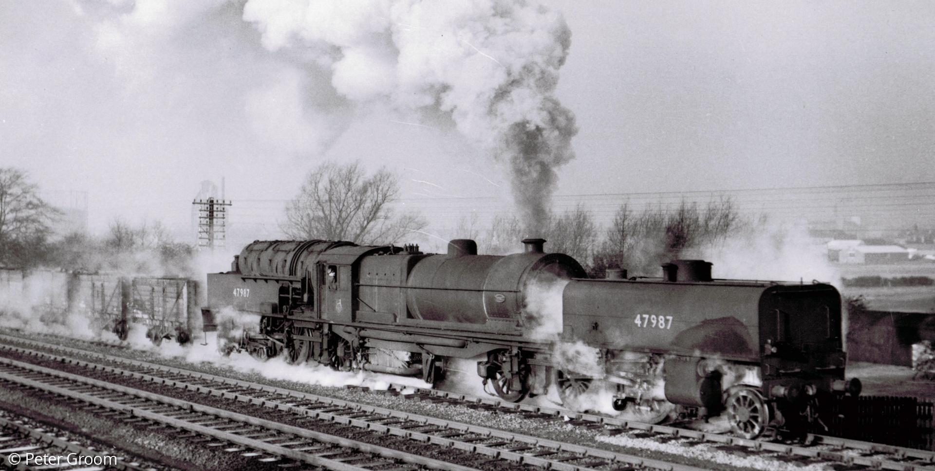 LMS Beyer Garratt 47987 at Melton Mowbray in December 1954. © Peter Groom