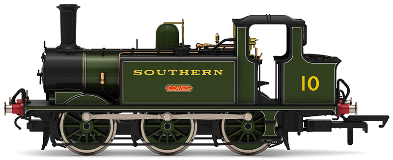"""Hornby R3812 - W10 """"Cowes"""" in Southern Railway olive green"""