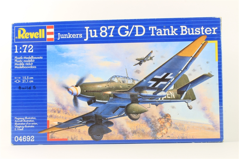Revell 04692 u junkers ju87g d tank buster for Cannon motor company preowned