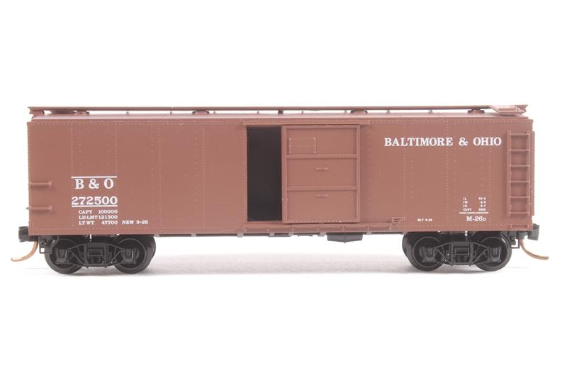micro trains 120210 ln 40 39 steel box car 272500 in baltimore ohio livery pre. Black Bedroom Furniture Sets. Home Design Ideas