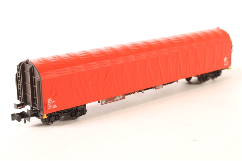15286-01-LN Sliding Tarpaulin Bogie Wagon of the DB - Pre-owned