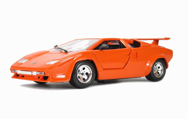 burago 18 22087or lamborghini countach 5000 quattrovalvole orange. Black Bedroom Furniture Sets. Home Design Ideas