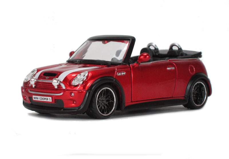 Hattonscouk Burago 18 42007re Mini Cooper S Cabriolet Red
