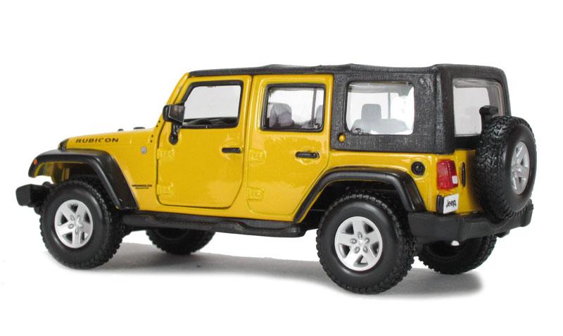 hattons.co.uk - burago 18-43012yl jeep wrangler unllimited rubicon
