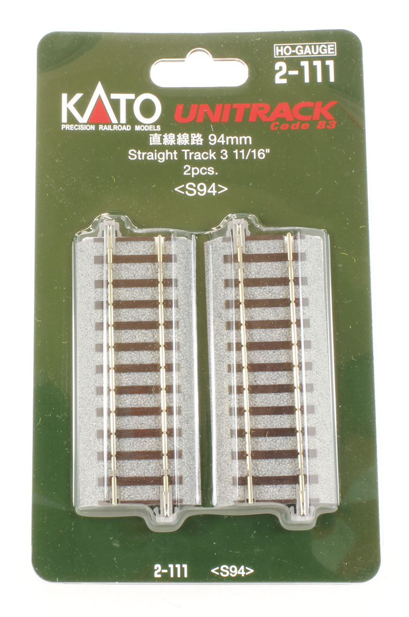Kato 2-180 HO Ground Level 369mm Straight Track 4