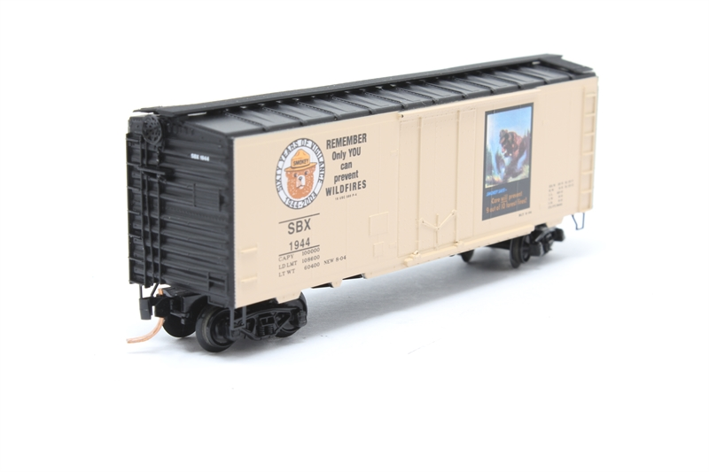 40' Plug Door Boxcar - 'Smokey the Bear' - Pre-owned - Like new