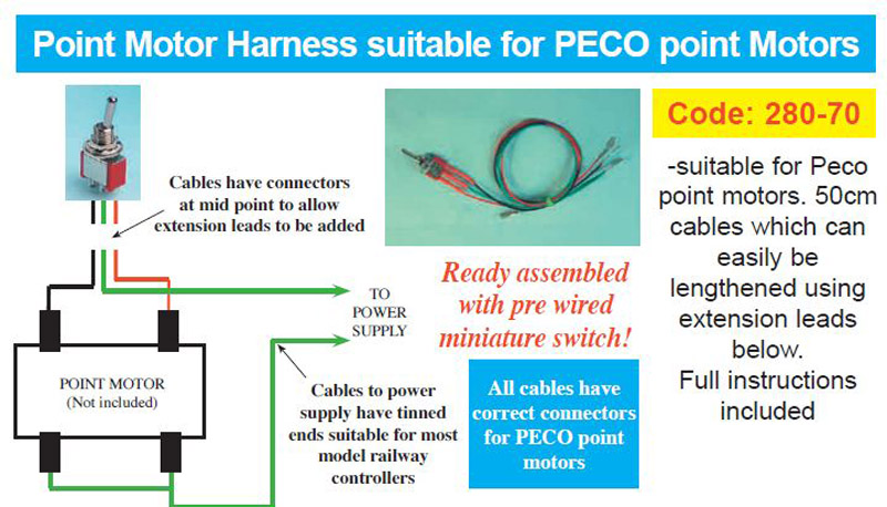 Hattons expo drills tools 28070 point motor wiring harness 28070 point motor wiring harness suitable for peco point motors pl 10 asfbconference2016 Images