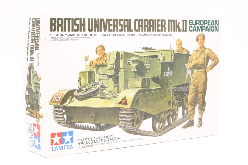 Tamiya 1//35 Military Miniature Series No.175 British Army Bren gun carrier