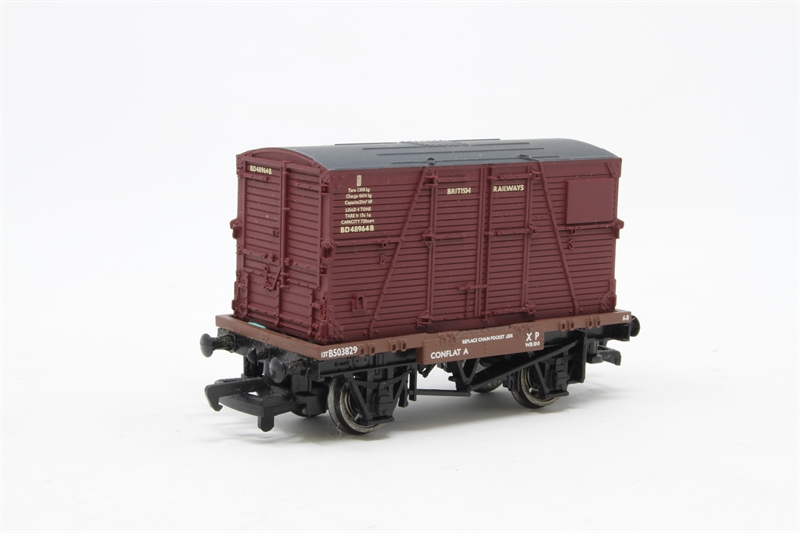 Oxford Rail OR76CAT001B Cattle Wagon BR No E151872 OO Gauge