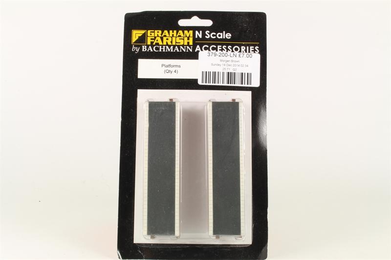 379-200 Graham Farish N Gauge Platforms x4