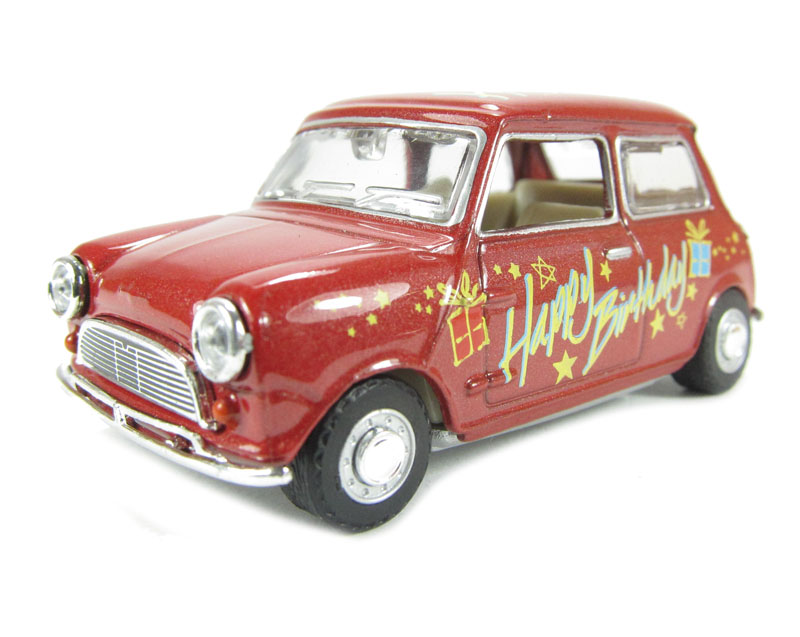Hattons Co Uk Oxford Diecast 43min017 Mini Car Happy Birthday