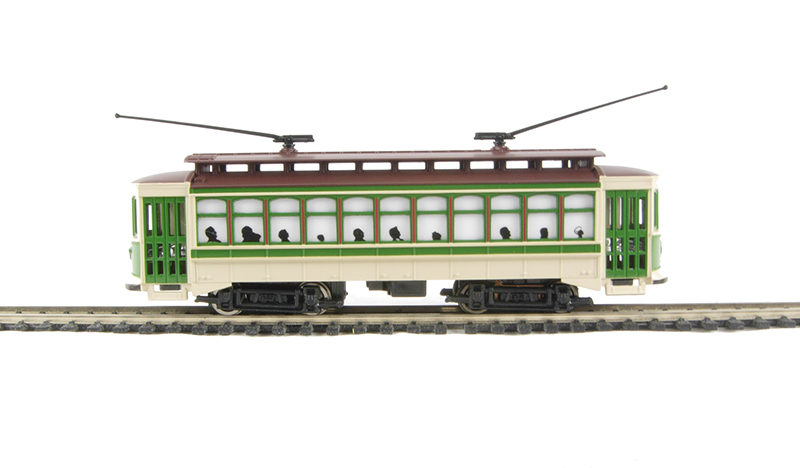Hattons co uk bachmann usa 61043 american brill trolley in green