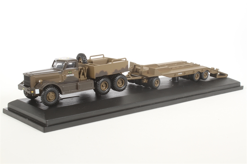 Oxford Diecast 76dt002 Diamond T980 Tank Transporter 1st Canadian Army Italy