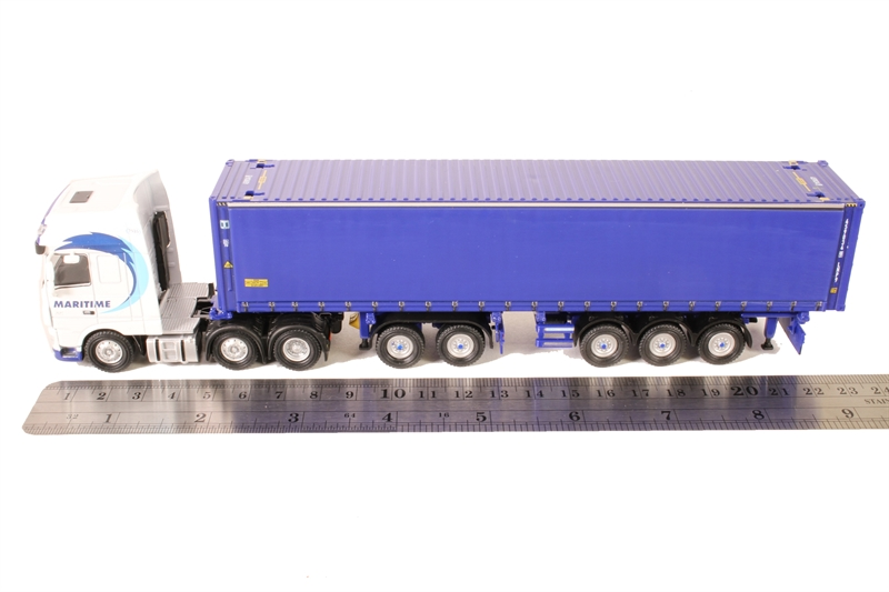OXFORD DIECAST 76DXF001 1:76 SCALE Daf XF Euro 6 Combitrailer Maritime Transport