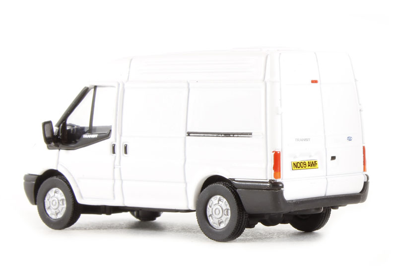 oxford diecast 76ft001 ford transit van with medium height roof in plain white. Black Bedroom Furniture Sets. Home Design Ideas