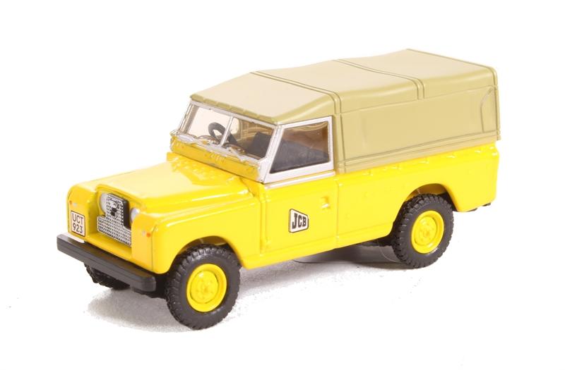 OXFORD DIECAST 76LAN2016 1:76 OO SCALE Land Rover Series II LWB Canvas JCB