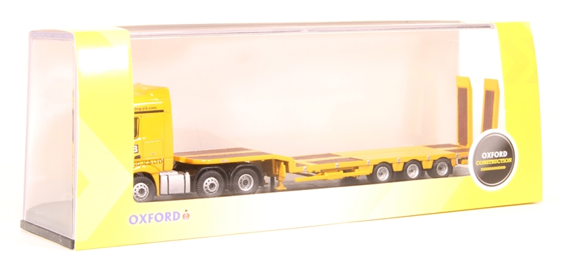 BNIB OO GAUGE OXFORD 1:76 76MB010 MERCEDES ACTROS SEMI LOW LOADER JCB LORRY