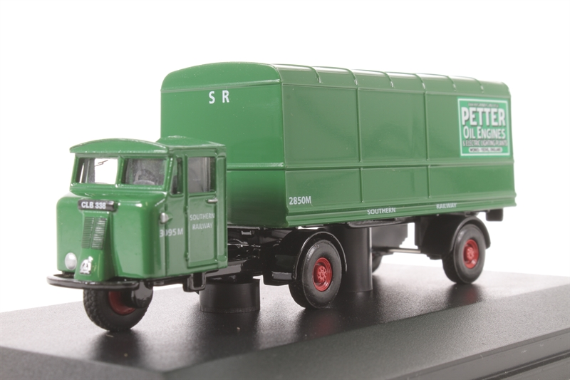 76MH008 Oxford Diecast Sothern Railway Green MH  Petter Oil Engines OO Scale