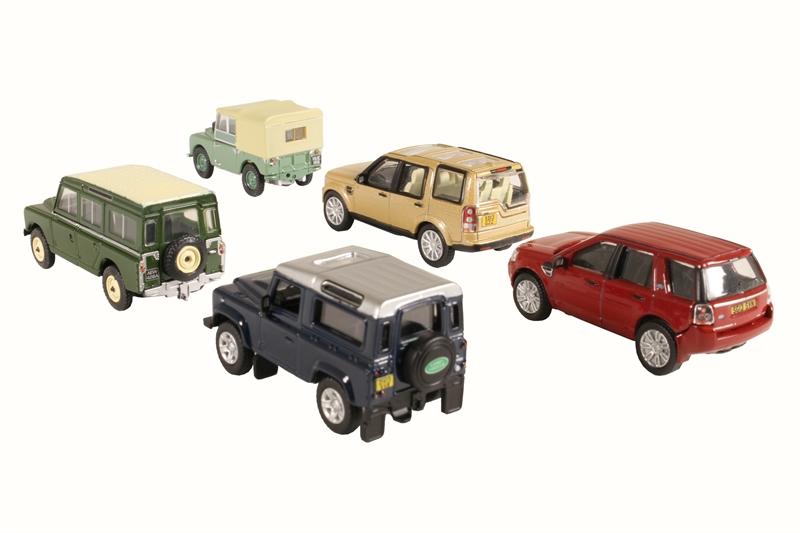 oxford diecast 76set32 5 piece land rover set i ii disco defender freelander. Black Bedroom Furniture Sets. Home Design Ideas