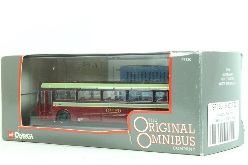Corgi collectables 97130 ln aec reliance for City motors pre owned