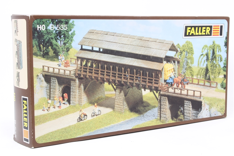 Hattonscouk Faller B 535 Covered Wooden Bridge