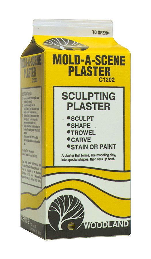 C1202 Woodland Scenics Mold-A-Scene Plaster 1//2 Gal