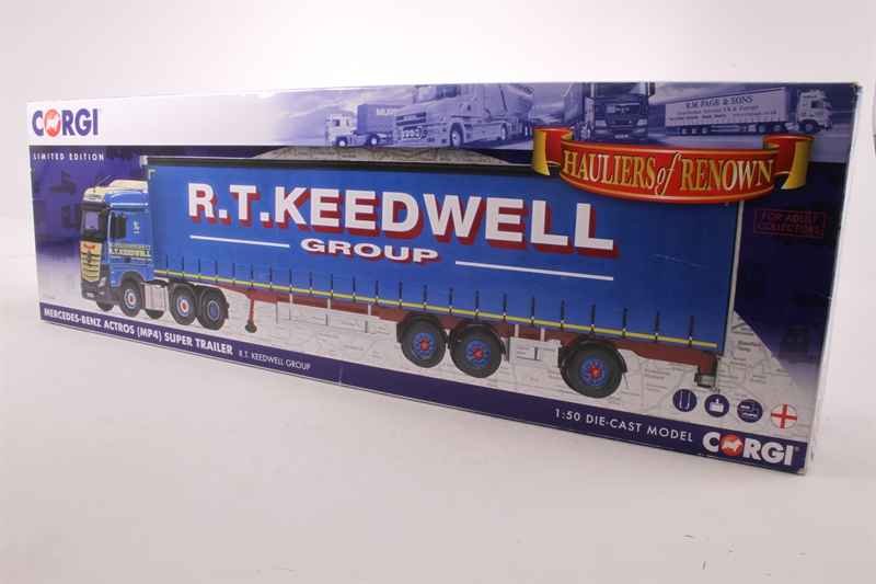 Keedwell Spielzeugautos & Zubehör Corgi Mercedes-benz Mp4 Super Trailer Curtainside Diecast Model