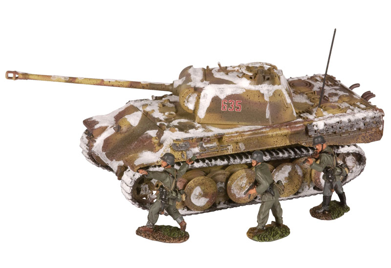 Hattons corgi collectables cc60213 panther ausfg tank 3 g tank amp 3 german infantry figures german army publicscrutiny Gallery