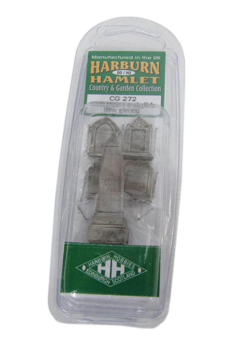 CG272 1:76 OO SCALE  Gravestones and Obelisk HARBURN HAMLET HOBBIES