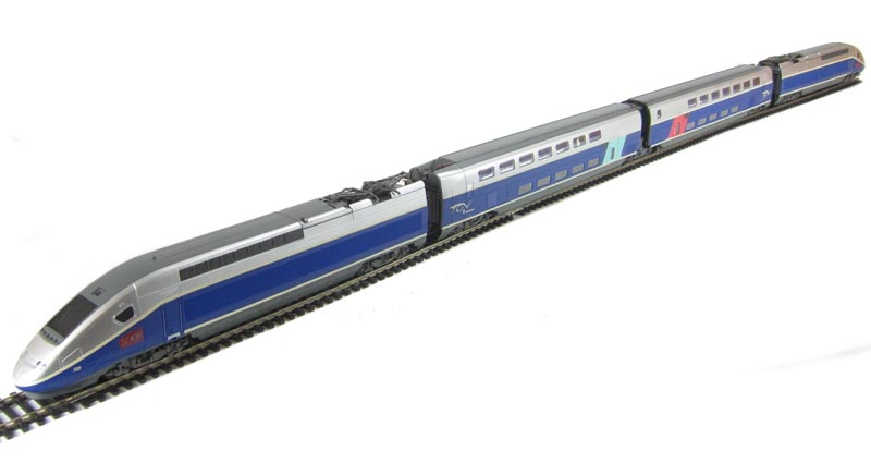 Hattons Co Uk Jouef Hj1027 Tgv Duplex Train Set 4 Car Set