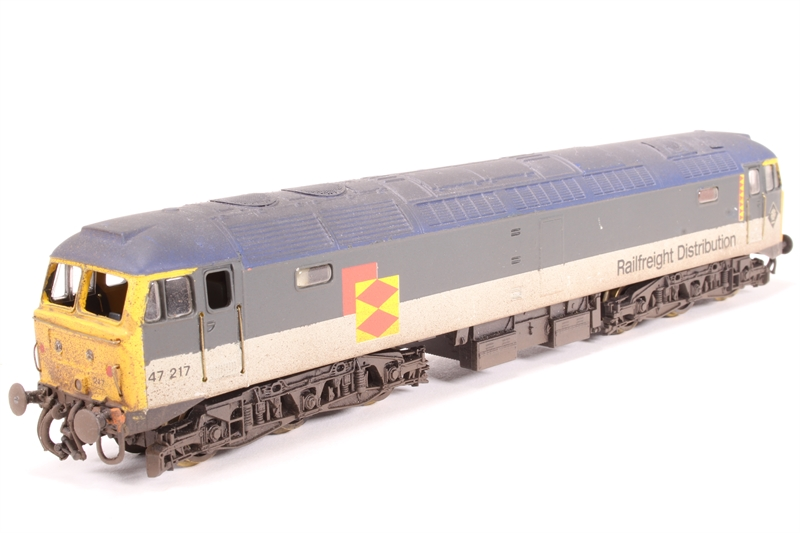 L204884-HW Class 47 47241 in Railfreight Distribution grey - Pre-owned -  weathered