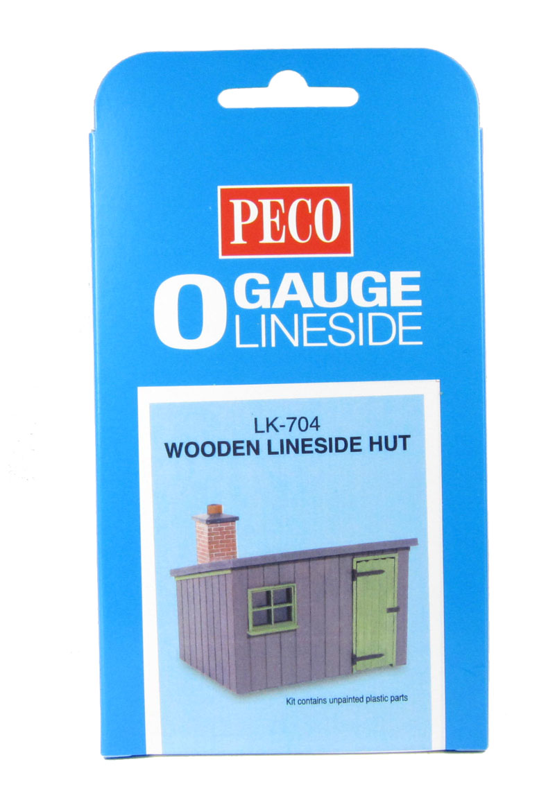 Peco LK-704 Wooden Lineside Hut /'O Gauge/' Plastic Kit New