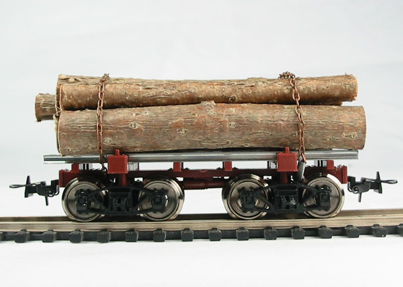Three Log Load ~ Hattons mehano m american log car with timber