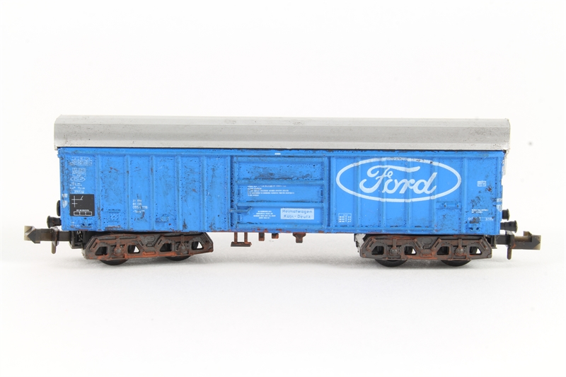 Minitrix n509 hw bogie covered wagon for Cannon motor company preowned