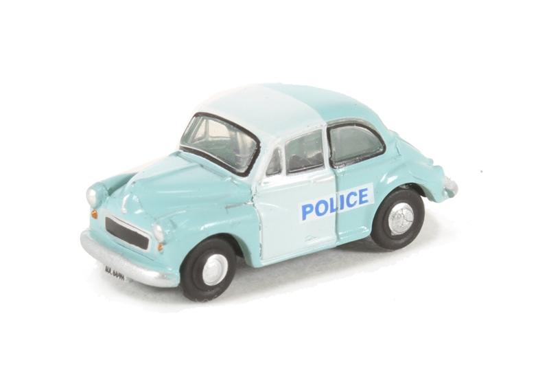 Oxford DiecastNMOS005 Morris Minor Saloon Police Panda N Gauge