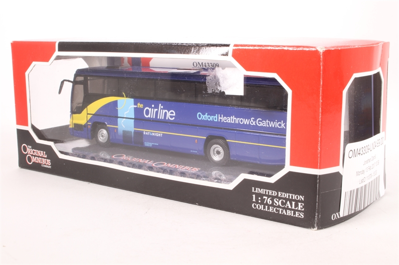 Corgi 1//76 Scale OM43309 Plaxton Excalibur Oxford bus company The Airline