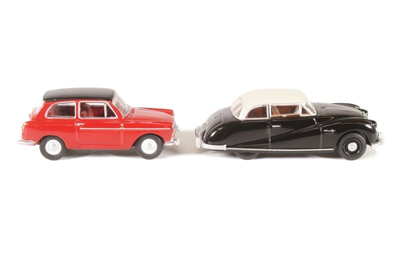 1960s Cars 4 Oxford Rail OR76CPK001 Carflat Car Pack