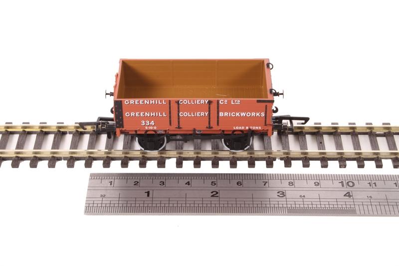 Oxford Rail OR76MW4008 4 Plank Wagon No 334 Greenhill Colliery OO Gauge