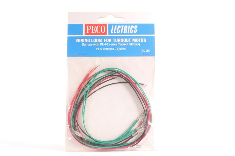 PL-34 Wiring Loom for Turnout Motors PL-10 series Peco