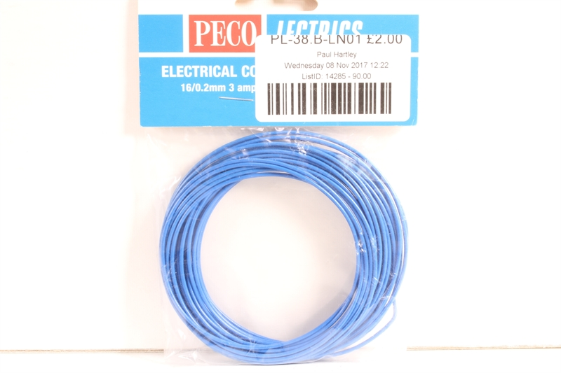 16 strand Red Peco PL-38R Electrical Wire 3 amp
