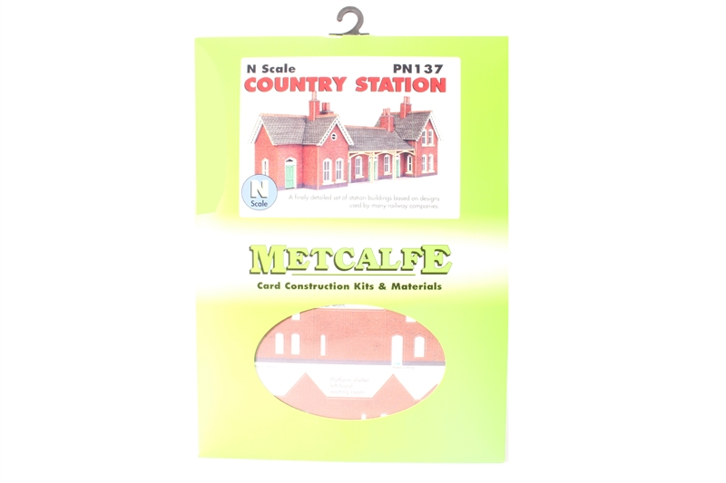 COUNTRY STATION PN137 Metcalfe N SCALE Card Type Model Trains