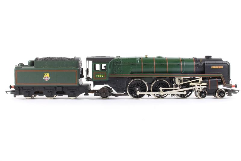Hornby R033 Morningstar Hd Class 7mt No 70021 39 Morning Star 39 In Br Green Pre