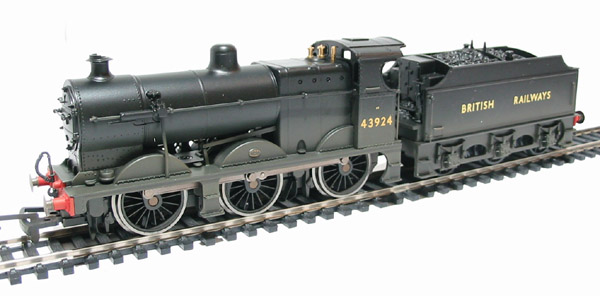 Hornby R2396 Class 4F 0-6-0 43924 in early British Railways Black  (weathered)
