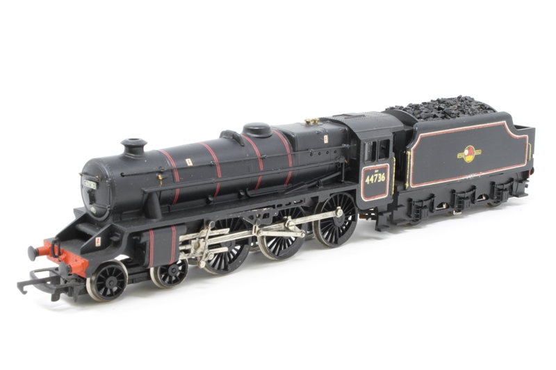 """Hornby R292-PO07 Class 5 """"Black 5"""" 4-6-0 44736 in BR Black with late crest  - Pre-owned - Renumbered, inconsistent runner, unpainted etched detailed  parts ..."""