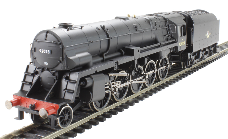Hornby R3274 Class 9F 2-10-0 92023 with Crosti boiler in BR Black with late  crest - Railroad range