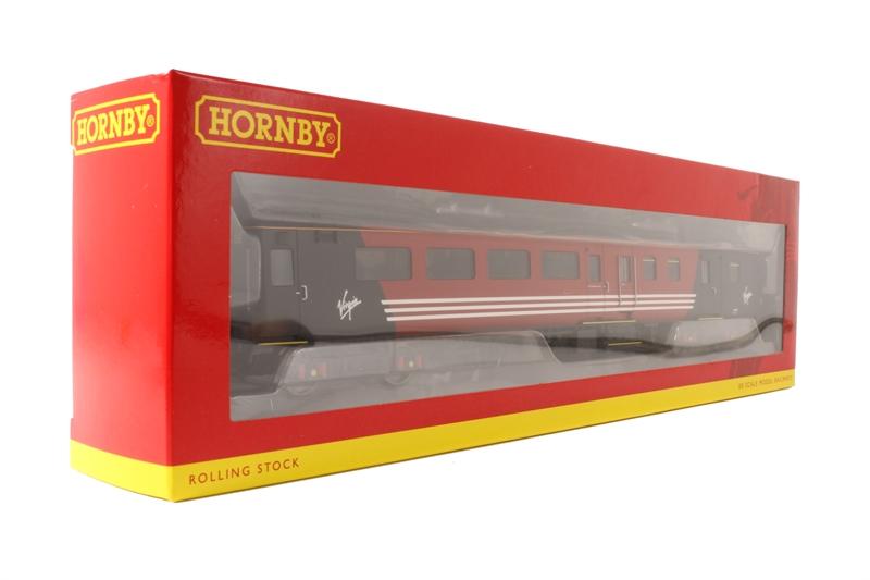 R4704 Hornby OO Gauge Virgin Mk2E Coach Std Open Brake lights
