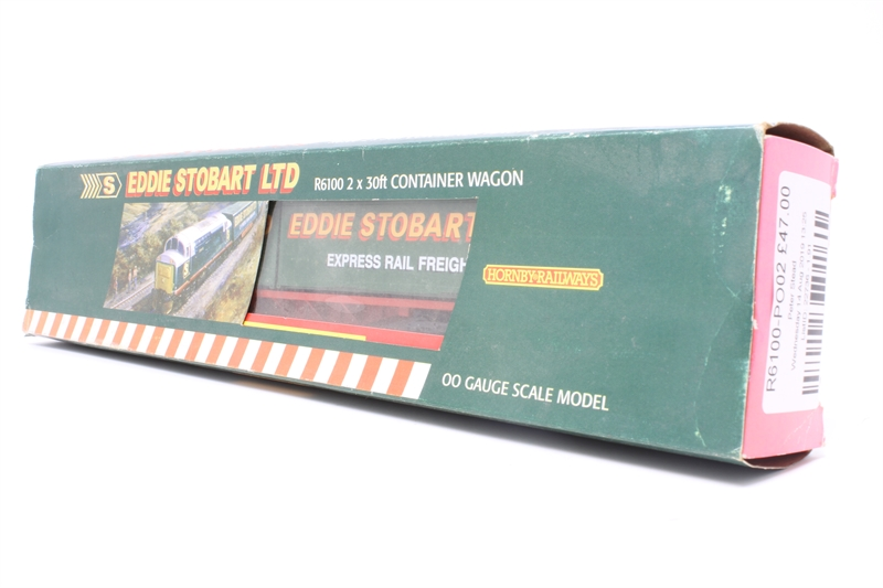 '2 x 30ft' Container wagon with 'Eddie Stobart' containers - Limited  Edition for Eddie Stobart club - Pre-owned - imperfect box